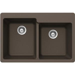 Double 1-3/4 Drop-In Sink - 22