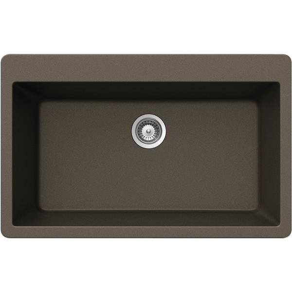 Wessan Granite Drop-In Sink - 20 7/8-in x 33-in x 9 7/16-in - Bronze