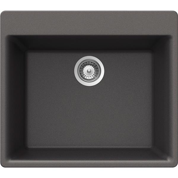 Wessan Granite Drop-In Sink - 21-in x 23 5/8-in x 8 5/8-in - Steel