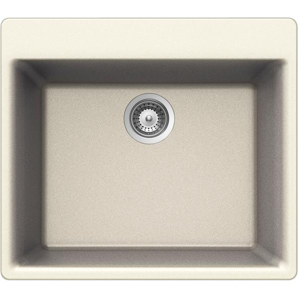 Wessan Granite Drop-In Sink - 21-in x 23 5/8-in x 8 5/8-in - Magnolia