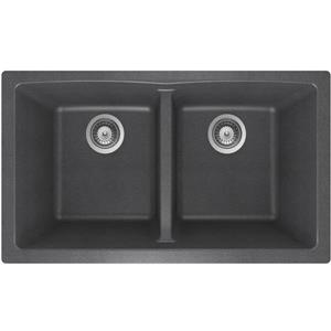 Granite Double Undermount Sink - 17 1/4