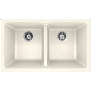 Granite Double Undermount Sink -17 1/4
