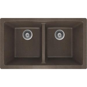 Granite Double Undermount Sink - 17 1/4