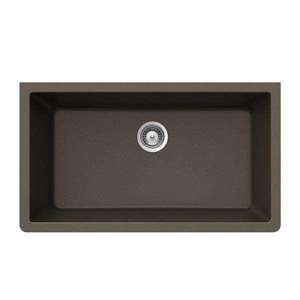 Wessan Granite Undermount Sink - 18 1/2-in x 33-in x 9 7/16-in - Bronze