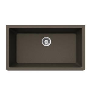 """Évier en granite, sous plan, 18 1/2"""" x 33"""" x 9 7/16"""", bronze"""