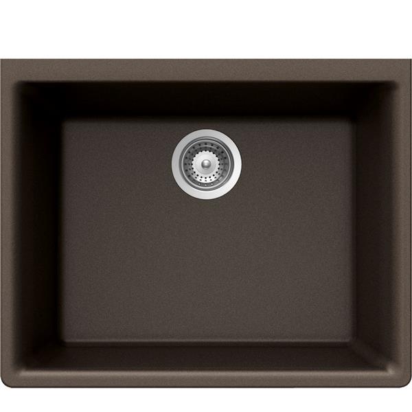 Wessan Granite Undermount Sink - 18 1/4-in x 23 5/8-in x 8 5/8-in- Bronze