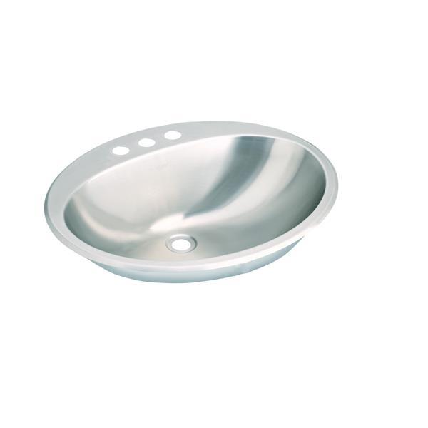 Wessan Drop-In Vanity Sink - Stainless Steel