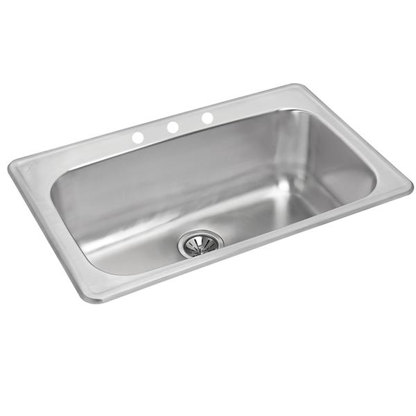 Wessan Stainless Steel Drop-in Sink - 20 7/8-in x 31 1/2-in x 8-in
