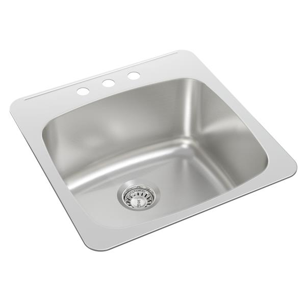 Wessan Stainless Steel Drop-In Utility Sink - 20 1/2-in x 20-in x 10-in