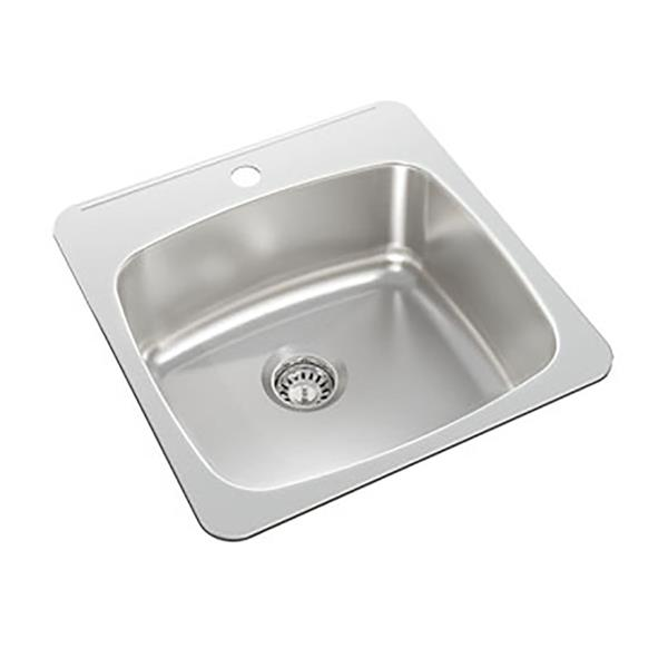 Wessan Stainless Steel Drop-In Kitchen Sink - 20 1/2-in x 20-in x 8-in