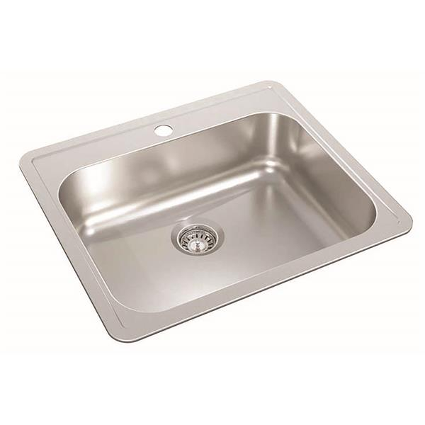 Wessan Stainless Steel Drop-In Kitchen Sink - 21-in x 24-in x 7-in