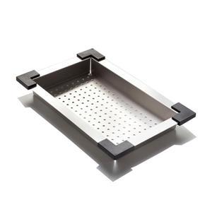 Passoire en acier inoxydable, 25 cm x 43 cm x 8 cm