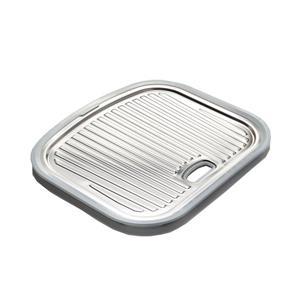 Stainless Steel Utility Tray - 37 cm x 44 cm x 3 cm