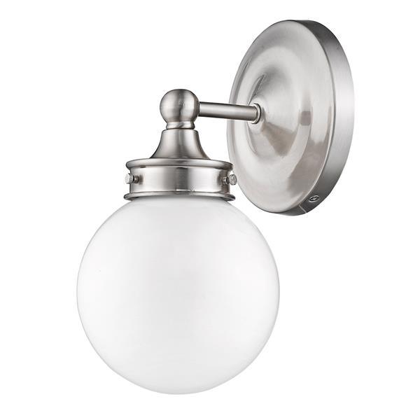 Acclaim Lighting Fairfax 11-in W 1-Light Nickel Wall Sconce