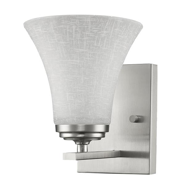 "Acclaim Lighting Union Wall Light - 1 Bulb - 7.75"" - Nickel"