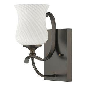 Acclaim Lighting Evelyn 11.5-in W 1-Light Bronze Wall Sconce