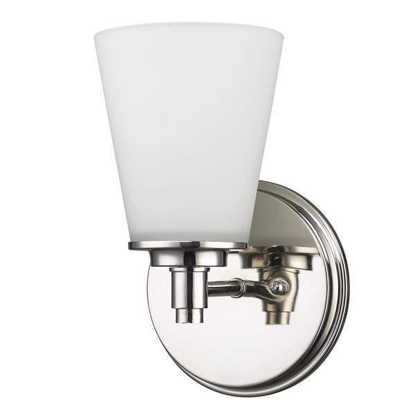 Acclaim Lighting Conti 10-in 1-Light Nickel Wall Sconce