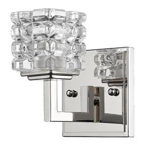 Acclaim Lighting Coralie 5.75-in 1-Light Nickel Wall Sconce
