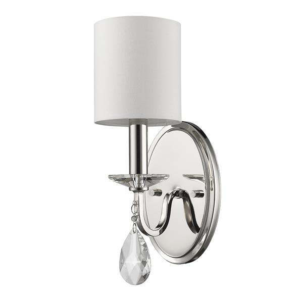 Acclaim Lighting Lily 13.75-in Nickel Wall Sconce