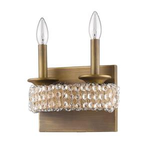 Acclaim Lighting Ava 8.5-In 2-Light Brass Wall Sconce