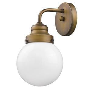 Acclaim Lighting Portsmith 11-in Brass 1 Bulb Wall Light