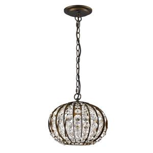 Acclaim Lighting Olivia 8.25-In Bronze Pendant Light