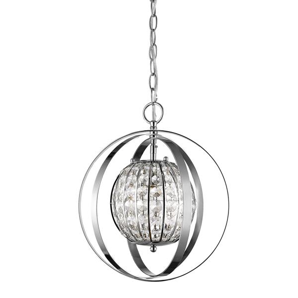 Acclaim Lighting Olivia 16-In Nickel Pendant Light
