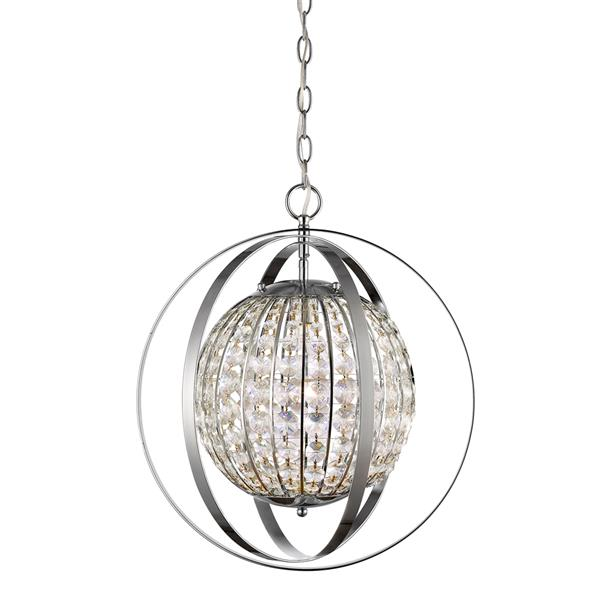 Acclaim Lighting Olivia 19-In Nickel Pendant Light