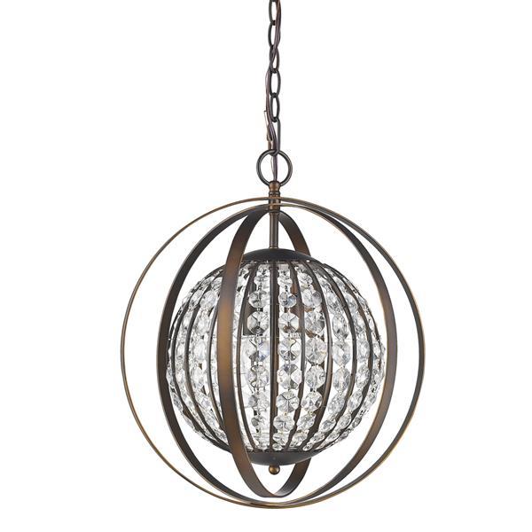 Acclaim Lighting Olivia 19-In Bronze Pendant Light