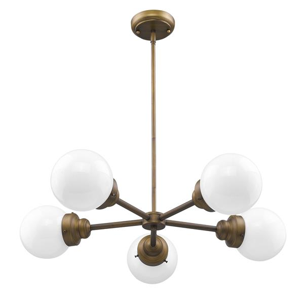 Acclaim Lighting Portsmith 6-In Brass Pendant Light