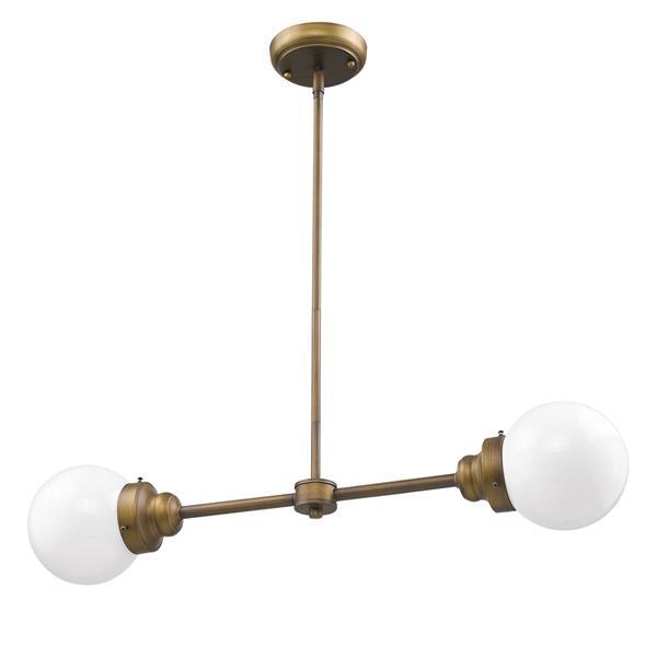 Luminaire suspendu Portsmith, métal, laiton