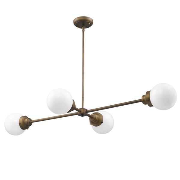 Acclaim Lighting Portsmith 6-In Metal  Brass Pendant Light