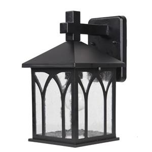 Acclaim Lighting Builders' Choice 11.50-In x 6.50-In Matte Black Wall Mounted Lantern