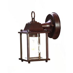 Acclaim Lighting Builders' Choice 8.50-In x 4.75-In Matte Burled Walnut Wall Mounted Lantern