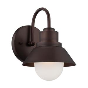 Acclaim Lighting Astro 9-in x 6-in Architectural Bronze Mounted Wall Lamp