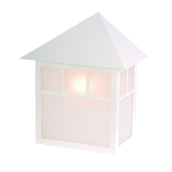 Acclaim Lighting Artisan 10.5-in Textured White Steel Outdoor Wall Lantern