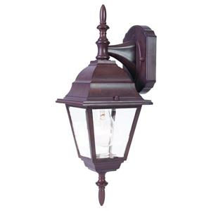 Acclaim Lighting Builders' Choice 16-in x 6-in Burled Walnut Downward Facing Wall Mounted Lantern