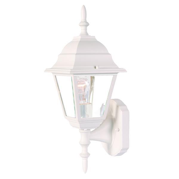 Acclaim Lighting Builders' Choice 16-in x 6-in Textured White Wall Mounted Lantern