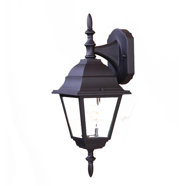Acclaim Lighting Builders' Choice 16-in x 6-in Matte Black Wall Mounted Lantern