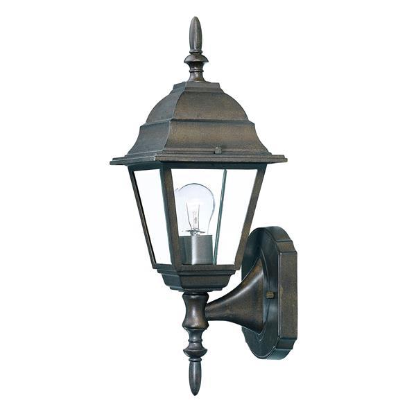 Acclaim Lighting Builders' Choice 16-in x 6-in Burled Walnut Upward Facing Wall Mounted Lantern
