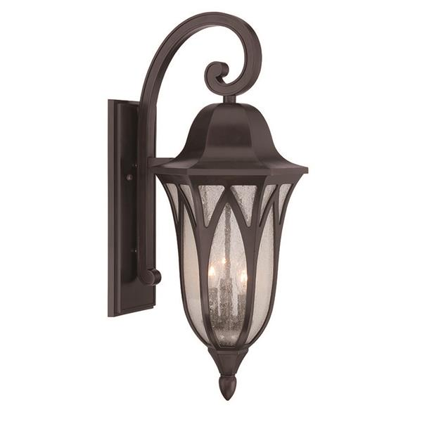 Acclaim Lighting Milano 27-in Oil Rubbed Bronze MarbleX 3-Light Outdoor Wall Lantern