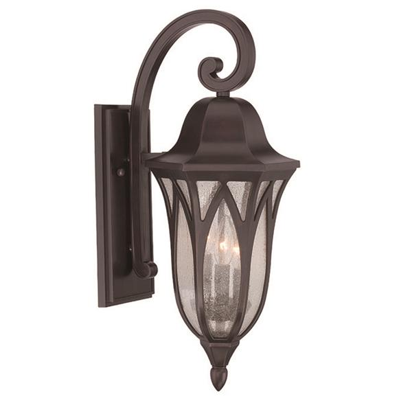 Acclaim Lighting Milano 22-in Oil Rubbed Bronze MarbleX 3-Light Outdoor Wall Lantern