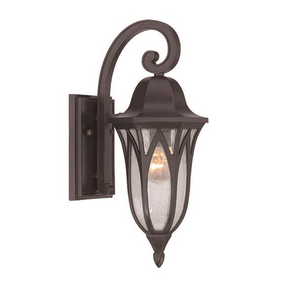 Acclaim Lighting Milano 17.25-in Oil Rubbed Bronze MarbleX Outdoor Wall Lantern