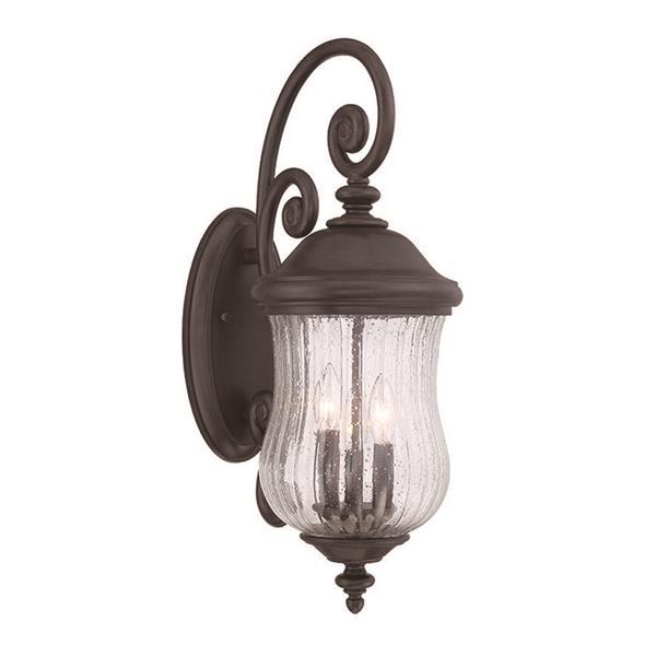 Acclaim Lighting Bellagio 24-in x 9-in Black Coral Wall Mounted Lantern