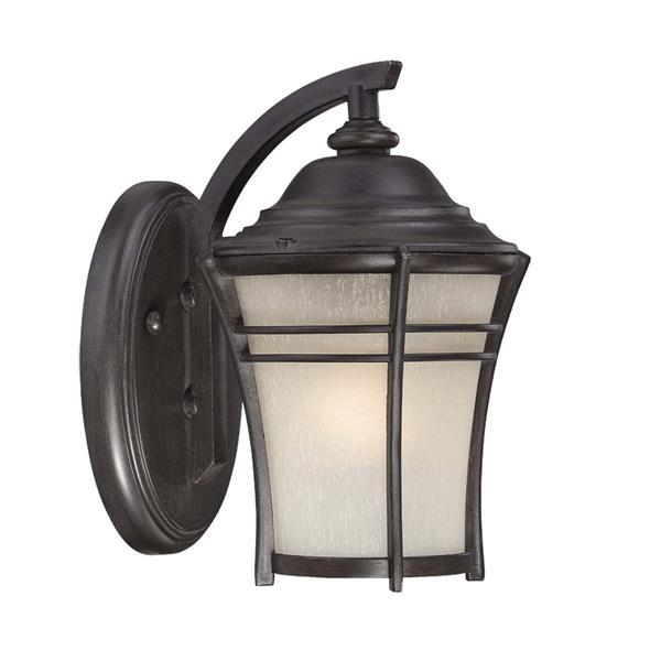 Acclaim Lighting Vero 17.75-in Black Coral MarbleX Outdoor Wall Lantern