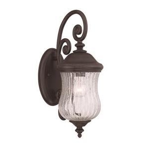 Acclaim Lighting Bellagio 18-in x 6.75-in Black Coral Wall Mounted Lantern