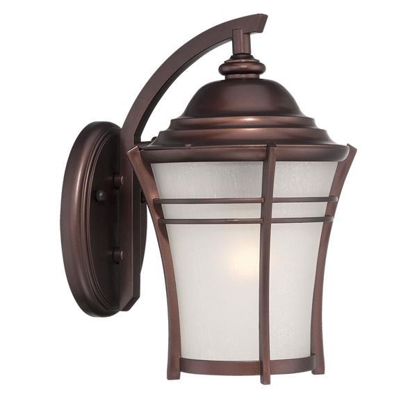 Acclaim Lighting Vero 17.75-in Architectural Bronze MarbleX Outdoor Wall Lantern