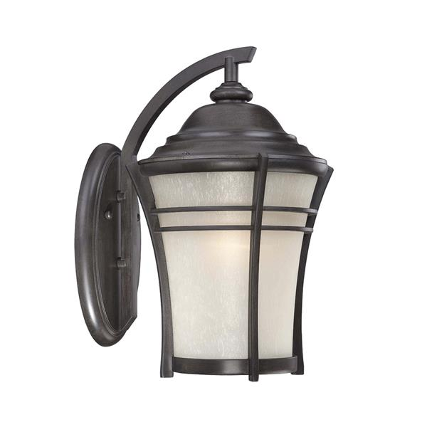 Acclaim Lighting Vero 10.12-in Black Coral MarbleX Outdoor Wall Lantern