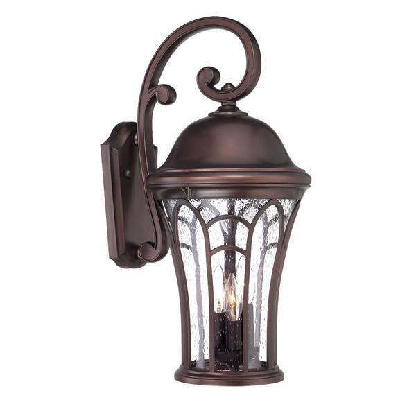 Acclaim Lighting Highgate 22.5-in Architectural Bronze MarbleX Outdoor Wall Lantern