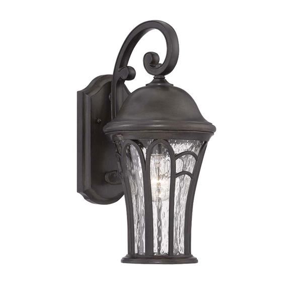 Acclaim Lighting Highgate 22.5-in Black Coral Clear Glass Outdoor Lantern